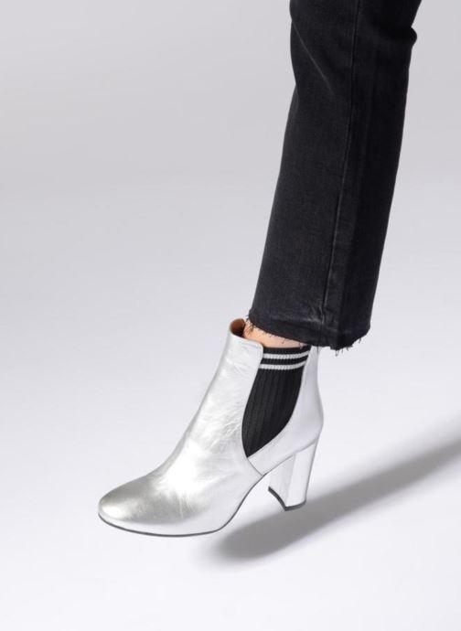 Bottines et boots Made by SARENZA 80's Disco Girl Bottines à Talons #6 Argent vue bas / vue portée sac