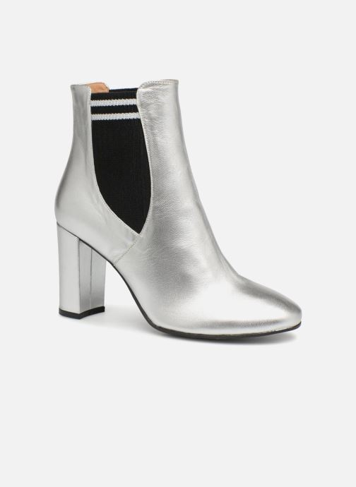 Ankle boots Made by SARENZA 80's Disco Girl Bottines à Talons #6 Silver view from the right