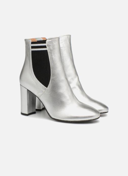 Bottines et boots Made by SARENZA 80's Disco Girl Bottines à Talons #6 Argent vue derrière