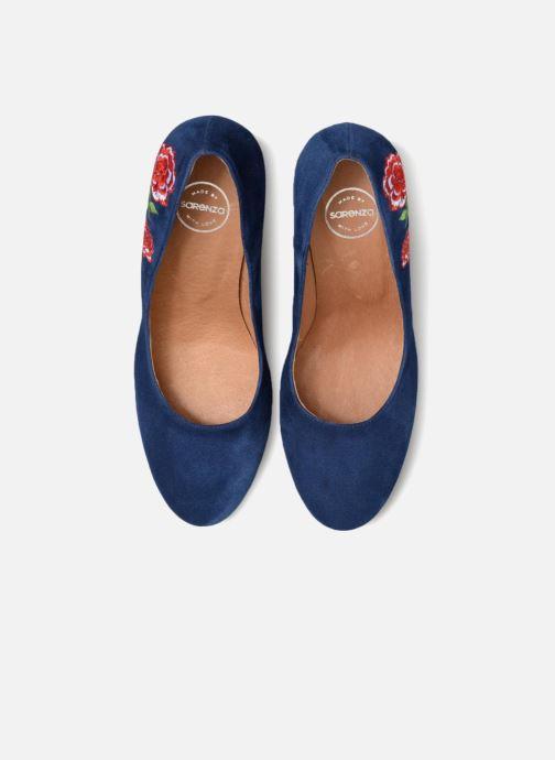 Zapatos de tacón Made by SARENZA UrbAfrican Escarpins #3 Azul vista del modelo