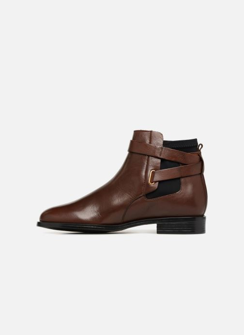 Ankle boots Buffalo AQUASKY Brown front view