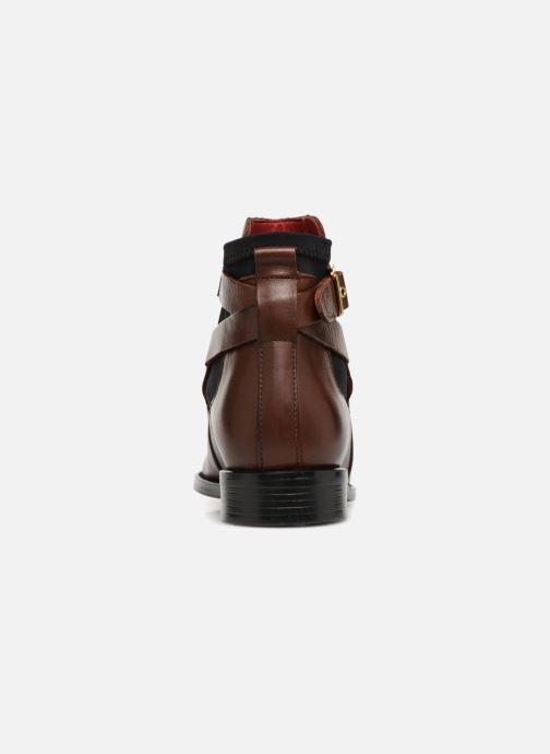 Ankle boots Buffalo AQUASKY Brown view from the right