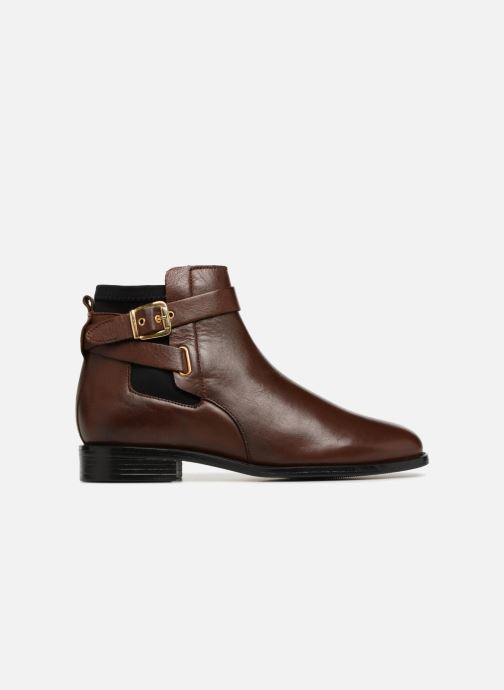 Ankle boots Buffalo AQUASKY Brown back view