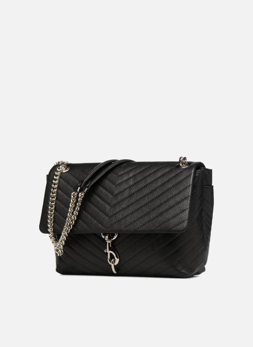Handtaschen Rebecca Minkoff EDIE FLAP SHOULDER schwarz schuhe getragen