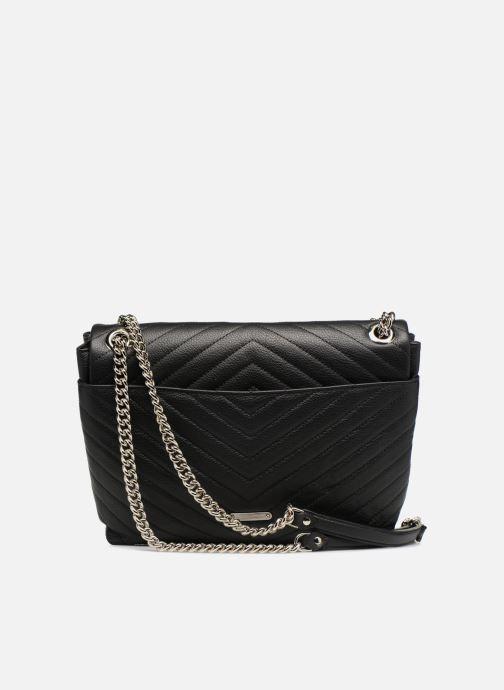 Handtaschen Rebecca Minkoff EDIE FLAP SHOULDER schwarz ansicht von vorne