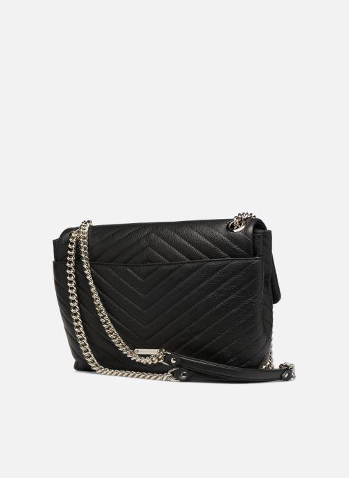 Handtaschen Rebecca Minkoff EDIE FLAP SHOULDER schwarz ansicht von rechts
