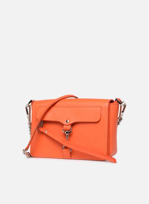 Sacs à main Rebecca Minkoff MAB FLAP CROSSBODY Orange vue portées chaussures