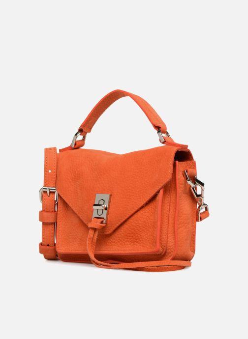 Sacs à main Rebecca Minkoff MINI DARREN Orange vue portées chaussures