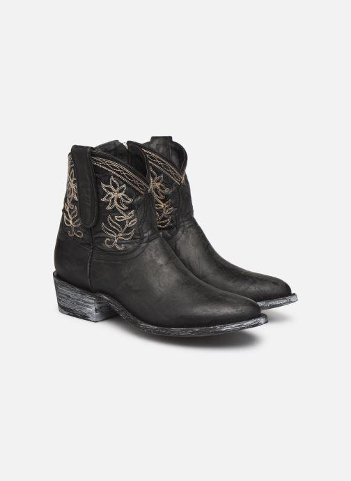 Bottines et boots Mexicana Cocozipper Noir vue 3/4
