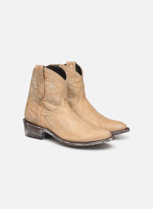 Boots en enkellaarsjes Mexicana Cocozipper Beige 3/4'