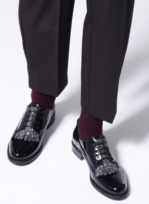 Zapatos con cordones Made by SARENZA 80's Disco Girl Chaussures à Lacets #2 Negro vista de abajo