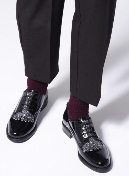 Scarpe con lacci Made by SARENZA 80's Disco Girl Chaussures à Lacets #2 Nero immagine dal basso