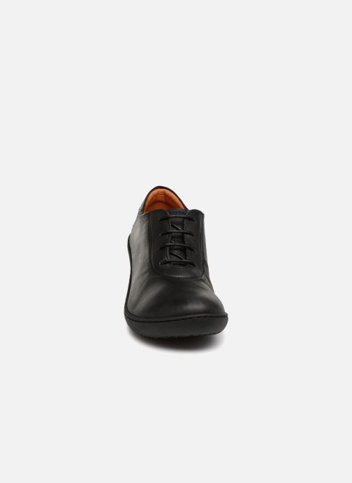 Schnürschuhe Art ALFAMA 5 schwarz schuhe getragen