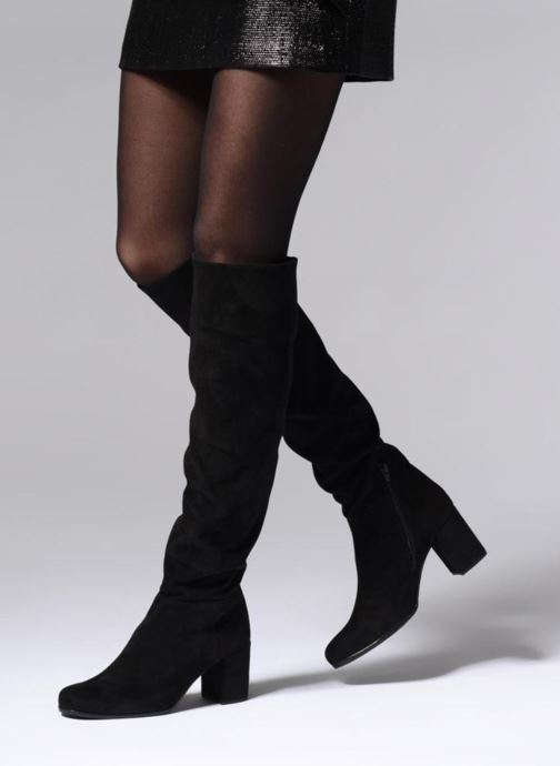 Stiefel Unisa ONKAR schwarz ansicht von unten / tasche getragen