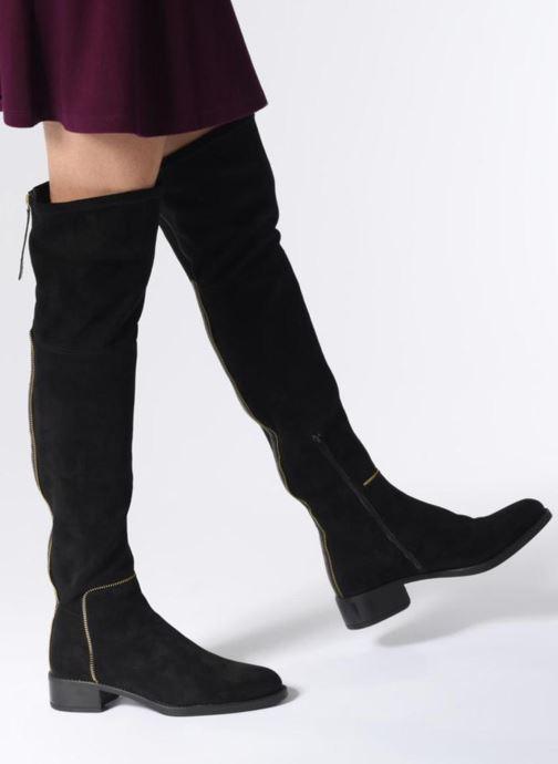 Stiefel Unisa ELIANA ST BLACK GOLD schwarz ansicht von unten / tasche getragen