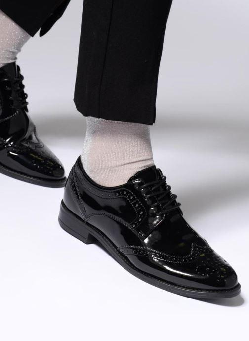 Schnürschuhe Aldo OLAOWIA schwarz ansicht von unten / tasche getragen