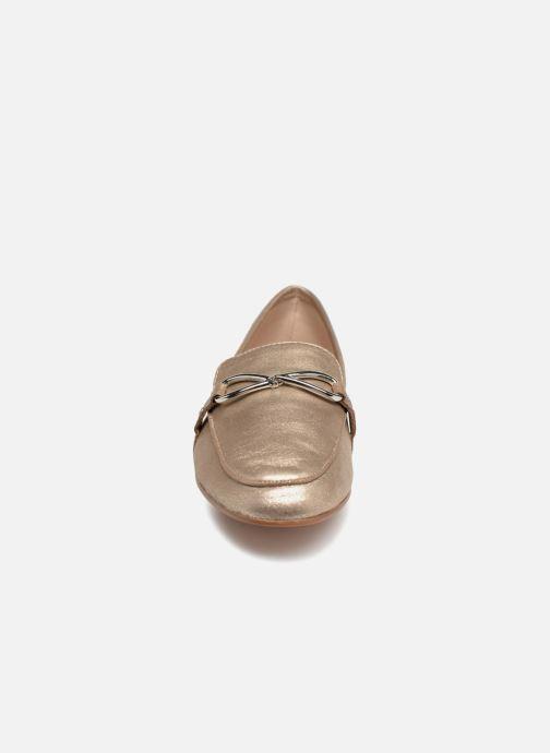 Mocassins Aldo AFAUCIA Or et bronze vue portées chaussures