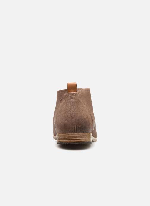 Chaussures à lacets Aldo PREVOT Beige vue droite