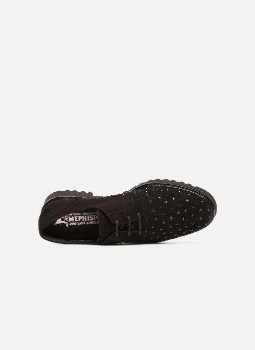Zapatos con cordones Mephisto Sylvana Negro vista lateral izquierda