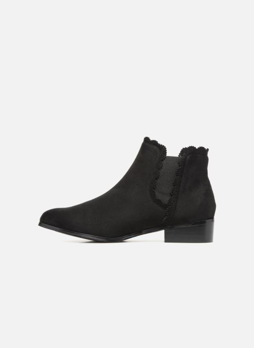 Bottines et boots Divine Factory LH1730-4 Noir vue face