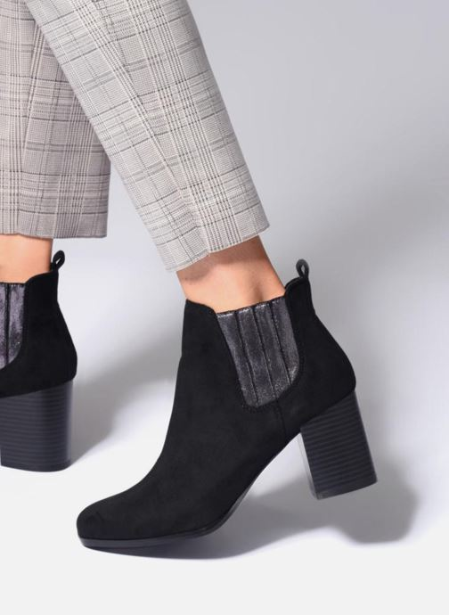 Bottines et boots Divine Factory QL3428 Noir vue bas / vue portée sac