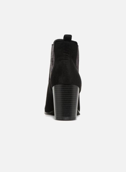 Bottines et boots Divine Factory QL3428 Noir vue droite
