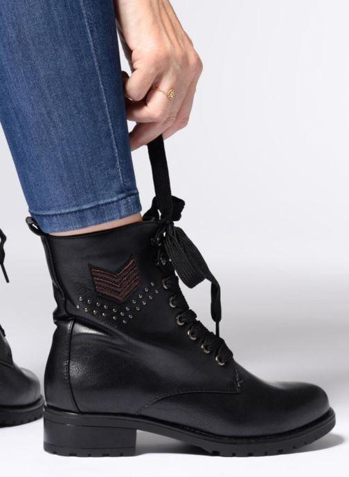 Boots en enkellaarsjes Divine Factory TE3321 Zwart onder