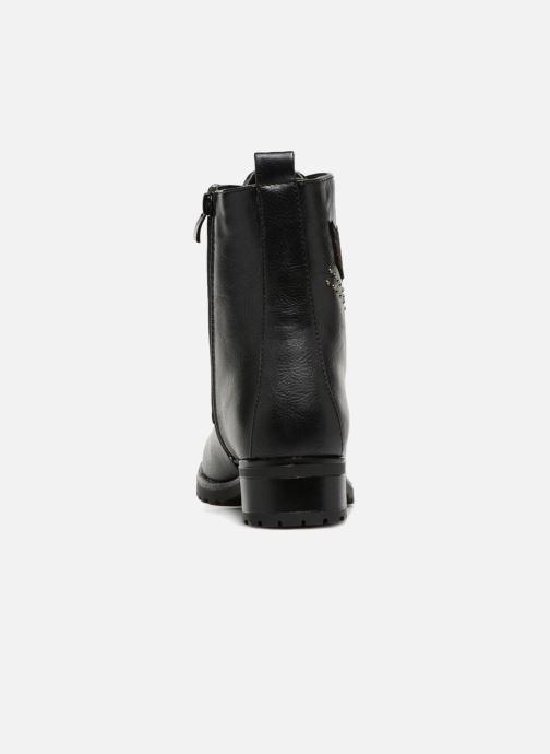 Boots en enkellaarsjes Divine Factory TE3321 Zwart rechts