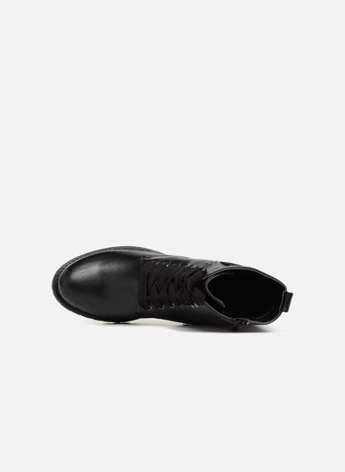 Boots en enkellaarsjes Divine Factory TE3321 Zwart links