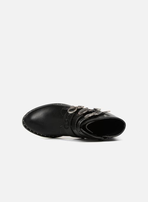 Boots en enkellaarsjes Divine Factory TE3317 Zwart links