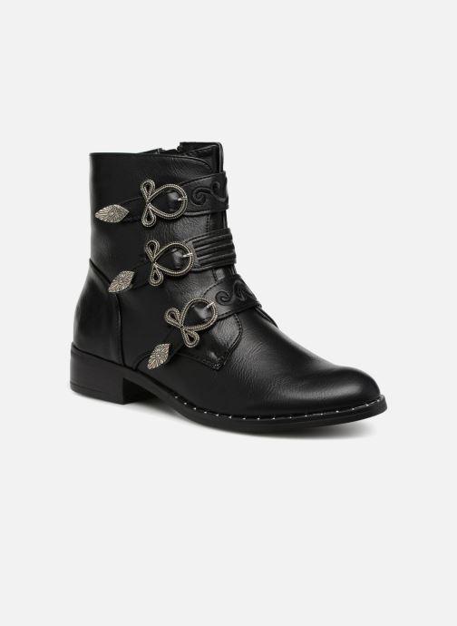 Boots en enkellaarsjes Divine Factory TE3317 Zwart detail