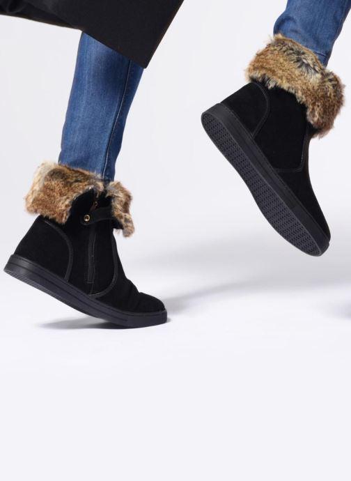 Bottines et boots Damart Agathe Thermolactyl Noir vue bas / vue portée sac