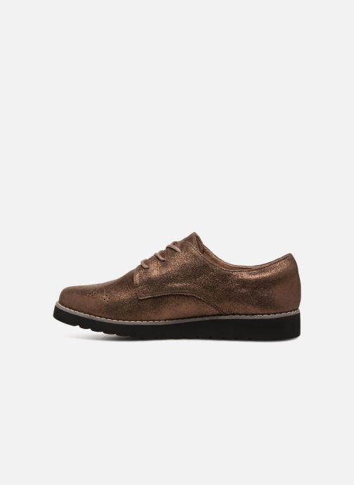 Chaussures à lacets Damart Anais Or et bronze vue face