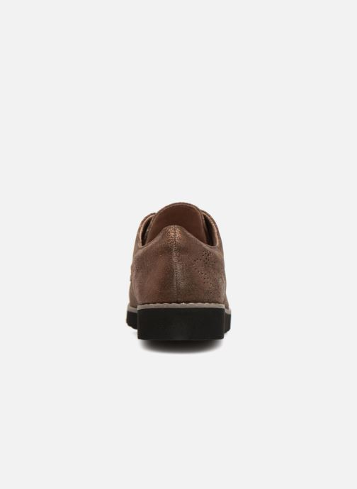 Chaussures à lacets Damart Anais Or et bronze vue droite