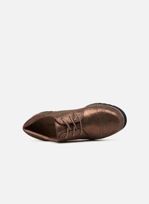 Chaussures à lacets Damart Anais Or et bronze vue gauche