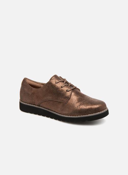 Chaussures à lacets Damart Anais Or et bronze vue détail/paire