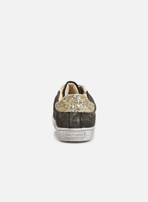 Baskets Chattawak BARI Or et bronze vue droite