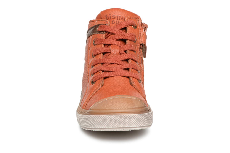 Baskets Bisgaard Michael Orange vue portées chaussures