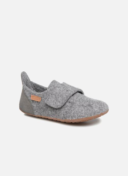 Hjemmesko Bisgaard Aksel Grå detaljeret billede af skoene