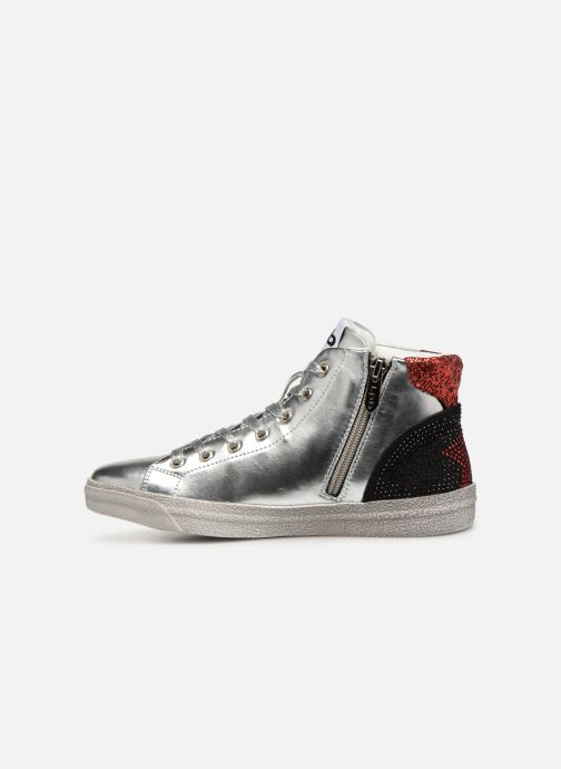 Trainers Les P'tites Bombes ANASTASIA Silver front view