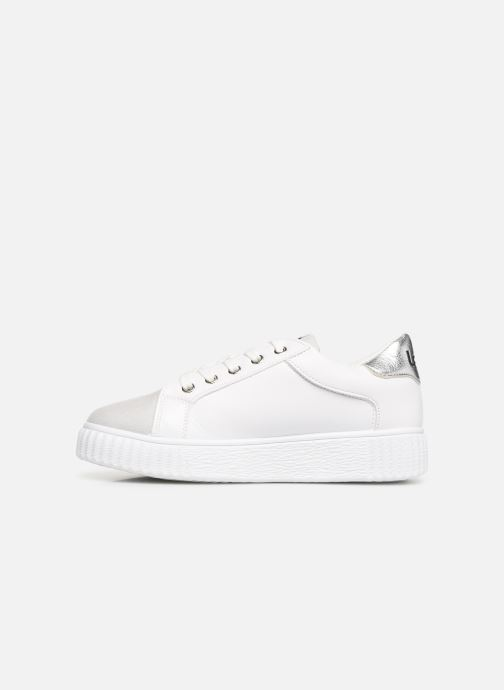 Trainers Les P'tites Bombes ADELINE White front view