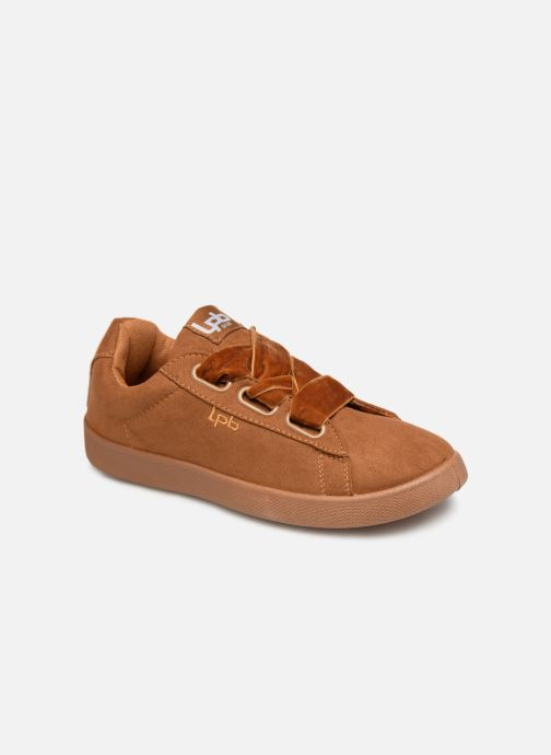 Trainers Les P'tites Bombes ANEMONE Brown detailed view/ Pair view