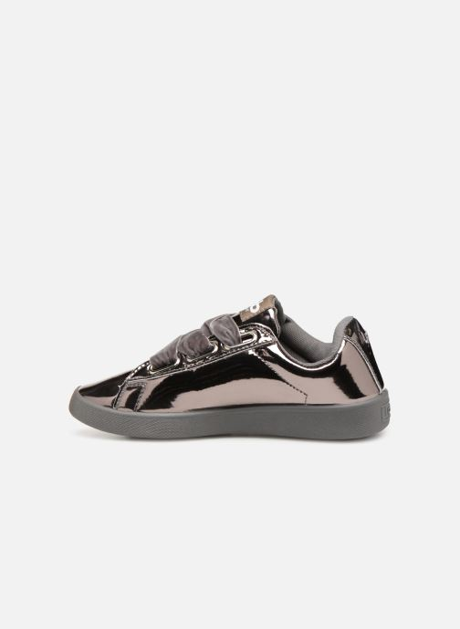 Trainers Les P'tites Bombes ANEMONE Silver front view