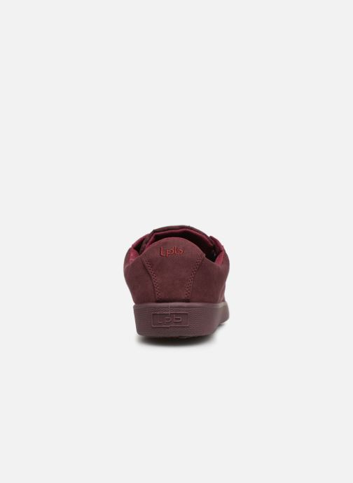 Trainers Les P'tites Bombes ANEMONE Burgundy view from the right