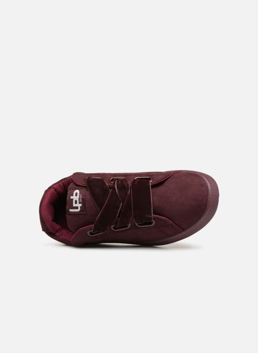 Trainers Les P'tites Bombes ANEMONE Burgundy view from the left