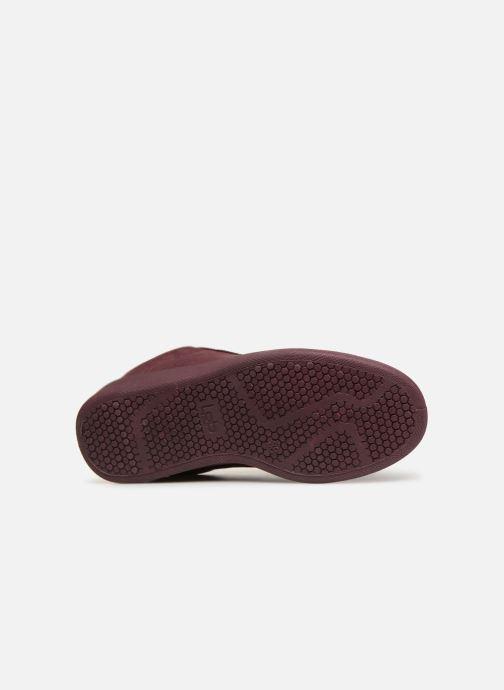 Sneaker Les P'tites Bombes ANEMONE weinrot ansicht von oben