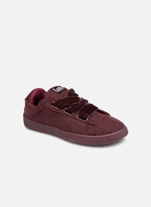 Trainers Les P'tites Bombes ANEMONE Burgundy detailed view/ Pair view