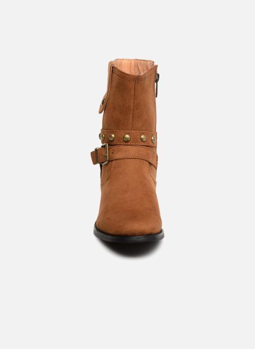 Bottines et boots Les P'tites Bombes LOUNA Marron vue portées chaussures