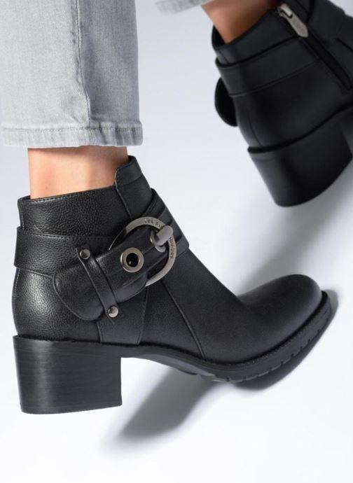 Bottines et boots Les P'tites Bombes LAURINE Noir vue bas / vue portée sac