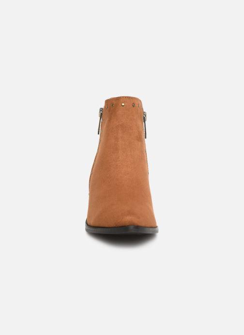 Bottines et boots Les P'tites Bombes JUDITH Marron vue portées chaussures